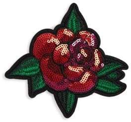 Scripted Sequin Rose Pin