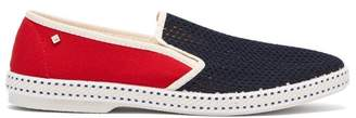 Rivieras Tour Du Monde Canvas Loafers - Mens - Blue Multi