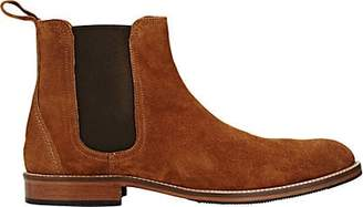 Barneys New York Men's Suede Chelsea Boots - Brown