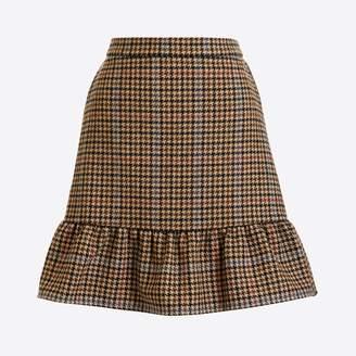 J.Crew Factory Houndstooth flounce mini skirt