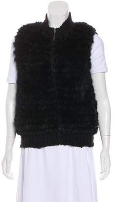 Theory Fur-Trimmed Wool-Blend Vest