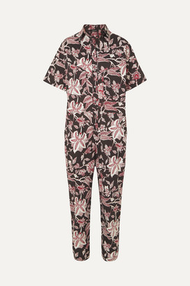 Isabel Marant Lindsie Floral-print Cotton Jumpsuit - Black