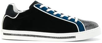 Rene Caovilla metallic front lace-up sneakers