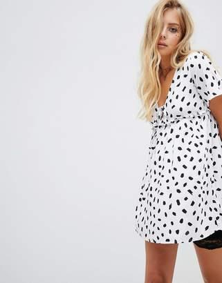 Motel Tea Dress In Dalmatian Spot Print