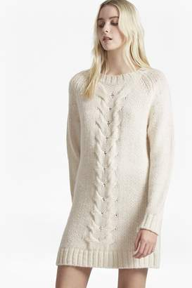 French Connection High Ridge Cable Knit Jumper Dress