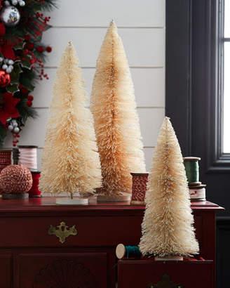 Bethany Lowe Glittered Bottle Brush Christmas Trees, Set of 3