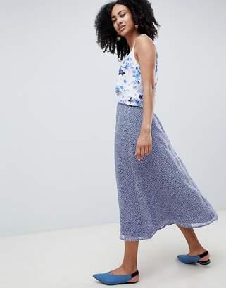 Gestuz Midi Skirt In Clover Print
