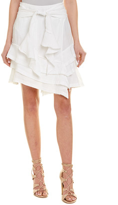 McGuire Denim Denim Lupolo Ruffle Linen Skirt