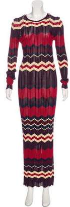 Ronny Kobo Semi-Sheer Maxi Dress