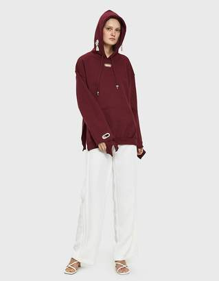 Collina Strada Earring Hoodie in Wine