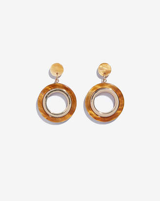 Express Open Circle Drop Earrings