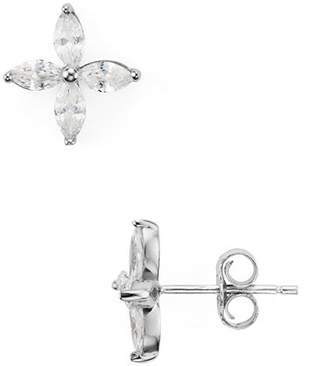 Aqua Sterling Silver Floral Stud Earrings - 100% Exclusive