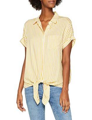 New Look Women's 5635437 Shirt, (Yellow Pattern), (Size: )