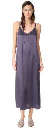 Vince Pleat Neck Slip Dress $295 thestylecure.com