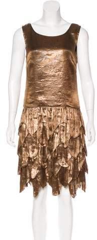 Ralph Lauren Sleeveless Silk-Blend Dress w/ Tags