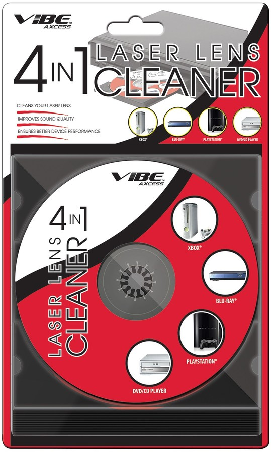 DGL USA Vibe Laser Lens Cleaner CD/DVD Compatible with Blu-Ray Xbox or Playstation