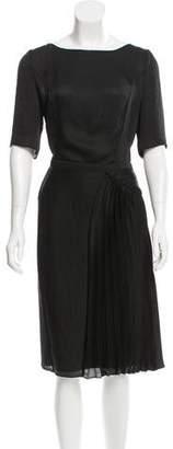 Nina Ricci Pleat-Accented Midi Dress w/ Tags