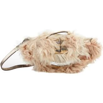 Fendi Beige Fur Clutch Bag