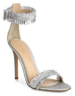 Gianvito Rossi Caribe Tinsel Ankle-Strap Sandals