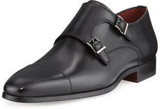 Magnanni for Neiman Marcus Leather Double-Monk Shoe $475 thestylecure.com