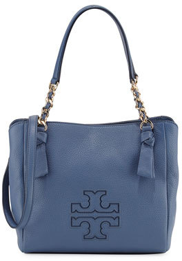 Tory Burch Harper Small Leather Satchel Bag $395 thestylecure.com