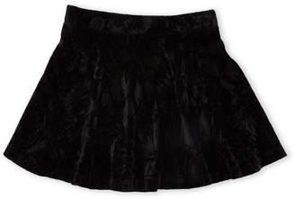 Design History Girls 4-6x) Crushed Velvet Skirt