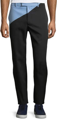 Calvin Klein Men's Angled Two-Tone Wool Pants