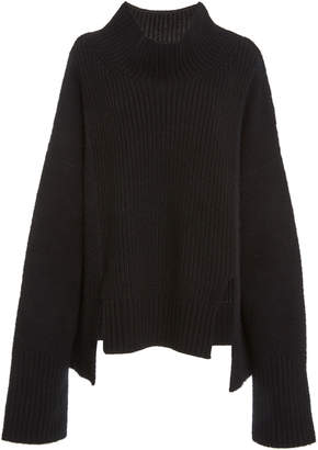 Sally LaPointe Felted Cashmere Funnel Neck Sweater