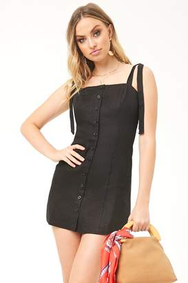 Forever 21 Linen Button-Front Dress