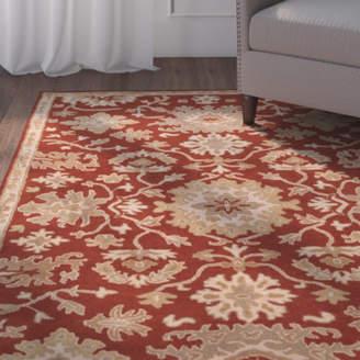 Charlton Home Willard Burgundy/Beige Area Rug