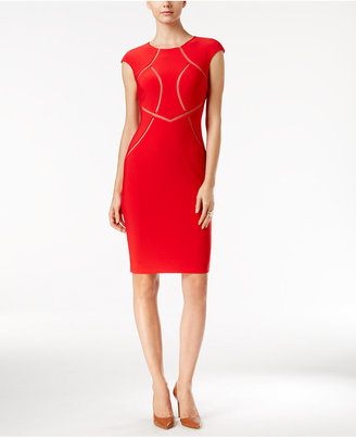 INC International Concepts Mesh-Inset Sheath Dress, Only at Macy's $129.50 thestylecure.com
