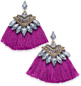 INC International Concepts I.N.C. Gold-Tone Crystal & Fan Drop Earrings, Created for Macy's