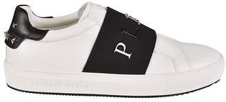 Philipp Plein Front Logo Slip-on Sneakers