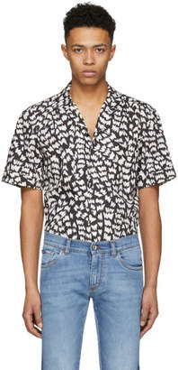 Dolce & Gabbana Black Brush Stroke Shirt