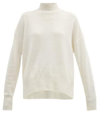 Jil Sander Rib Knitted Cashmere Roll Neck Sweater - Womens - Ivory
