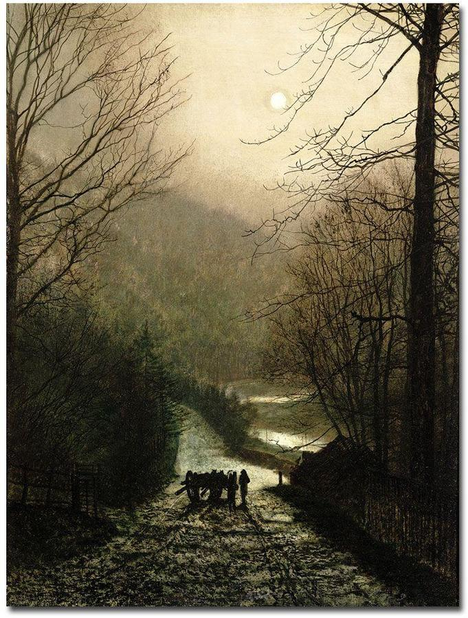 Waggon Trademark Fine Art 26 in. x 32 in. The Timber Canvas Art