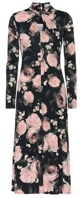 Erdem Nolene floral jersey midi dress