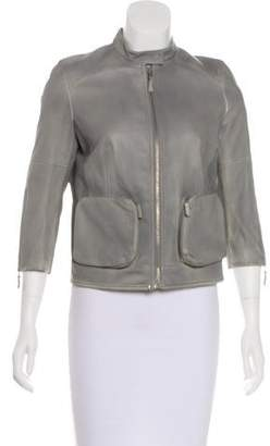 Saks Fifth Avenue 9|15 Exclusively for Knit-Paneled Vegan Leather Jacket