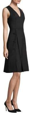 Derek Lam Women's V-Neck A-Line Dress - Black - Size 36 (0)