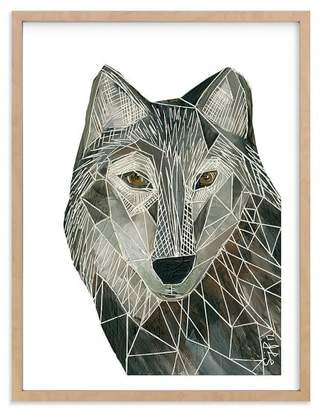 Pottery Barn Teen Senor Wolf, Wall Art by Minted®, 18 x 24, Natural