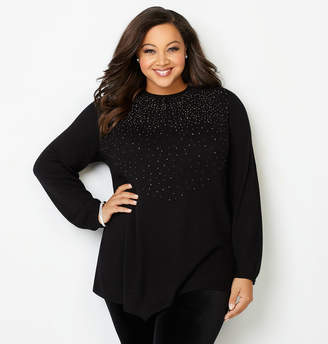Avenue Embellished Asymmetrical Pullover