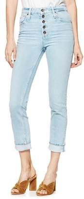 Paige Sarah Button Fly High Waist Slim Jeans