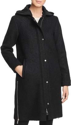 Vince Camuto Hooded Side Zip Coat