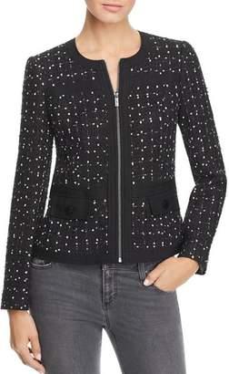 Karl Lagerfeld Paris Banded Tweed Jacket