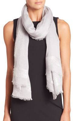 Armani Shimmer Wool-Blend Scarf $275 thestylecure.com