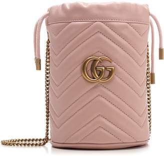 Gucci GG Marmont Mini Quilted Bucket Bag