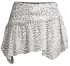 Ramy Brook Women's Renly Metallic Print Mini Skirt
