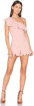 J.O.A. One Shoulder Romper in Pink $79 thestylecure.com