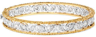 Buccellati Ramage 18-karat White And Yellow Gold Diamond Bangle