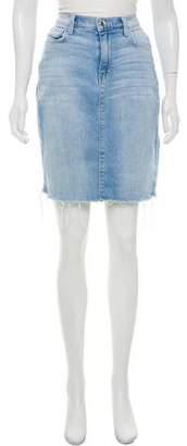 L'Agence Denim Knee-Length Skirt